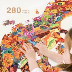 Đồ chơi lắp ghép Mideer 280 miếng ghép Dinosaur World