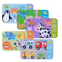 Tranh lắp ghép Puzzle 6in1 – my first puzzle cho bé 2 tuổi+