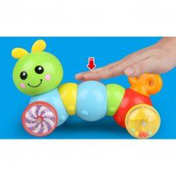 Đồ chơi vận động tinh – Xe kéo đẩy Sâu háu ăn cho bé