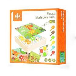 Đồ chơi Lắp ghép nấm gỗ – Forest mushroom nails 3 Tuổi+