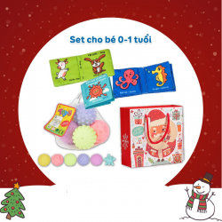 Túi quà Noel Set Combo Cho Bé Từ 0-1 Tuổi