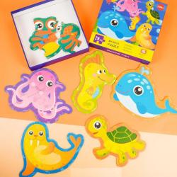 Đồ chơi Lắp ghép My Best Puzzle – Động vật biển 28 miếng