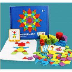 Đồ Chơi Lắp Ghép Sáng Tạo Pattern Blocks 130 Miếng