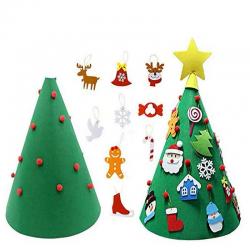 Cây Thông Noel Bằng Vải Hình Nón Trang Trí Để Bàn