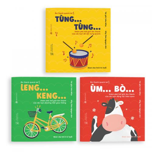 Combo 3 Cuốn Âm Thanh- Sách Ehon Cho Bé 0-6 Tuổi
