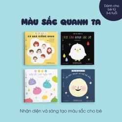 Sách Ehon Set 4 Cuốn Màu Sắc Quanh Ta Cho Bé 3-6 Tuổi