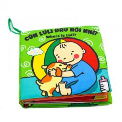 Sách Vải Cún Luli Đâu Rồi Giành Cho Bé 0-4 Tuổi