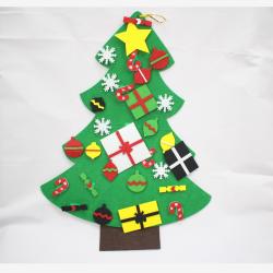 Cây Thông Noel Bằng Vải Trang Trí Treo Tường
