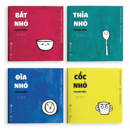 Sách Ehon – Combo 4 Cuốn Đồ Vật Dành Cho Bé Từ 0 – 4 Tuổi