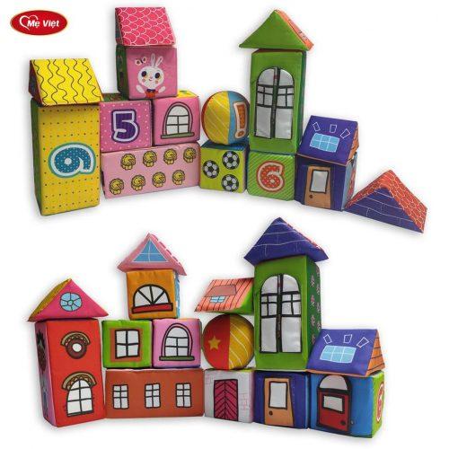 Bộ Khối Hình Diệu Kì Bằng Vải – PiPo Soft Blocks
