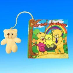 Sách Vải Tương Tác Pipo Một ngày của Gấu Boo