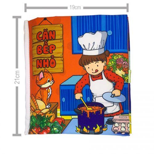 Sách Vải Tương Tác Pipo Cho Bé – Căn Bếp Nhỏ