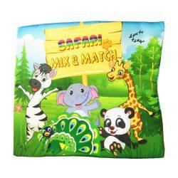 Sách Vải Safari – Mix & Match – Sách Vải Tương Tác Pipo