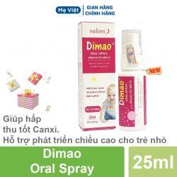 DIMAO – Vitamin D3 Dạng Xịt Từ Châu Âu Cho Con Cao Khỏe, Chắc Xương