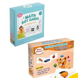 Combo dạy trẻ học toán 59 thẻ – Bộ100 thẻ TGXQ