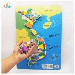 Bản đồ lắp ghép Việt Nam có Nam châm