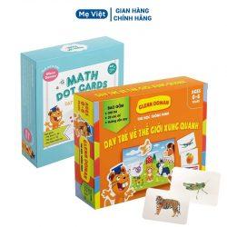 Combo dạy trẻ học toán 59 thẻ – Bộ 300 Thẻ TGXQ