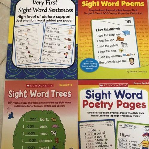Bộ Sách Học Tiếng Anh Sight Word 4 Quyển Khổ A4
